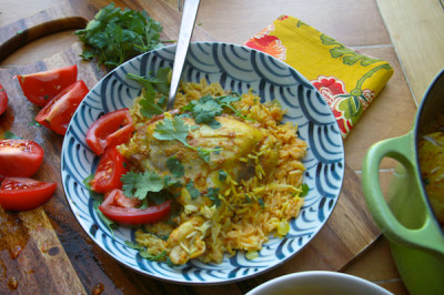 Curried Chicken with Coconut Rice from Shutterbean