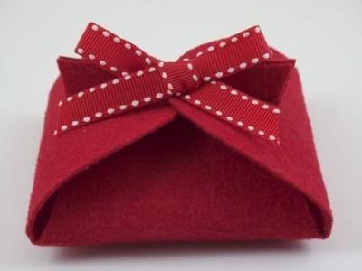Sweet felt gift box