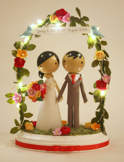 Adorable personalized cake topper