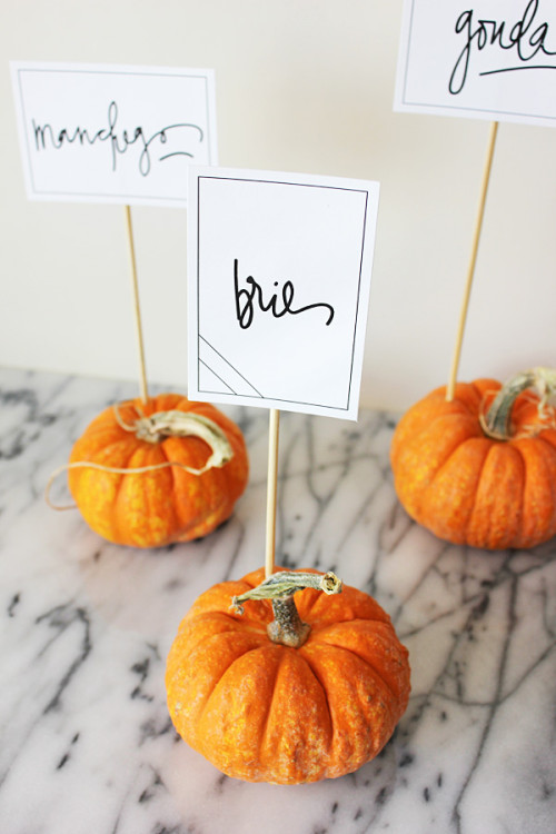 Wee Pumpkin Sign Holders