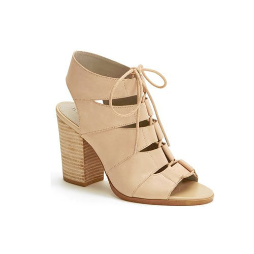 Drea Peep Toe Leather Sandal